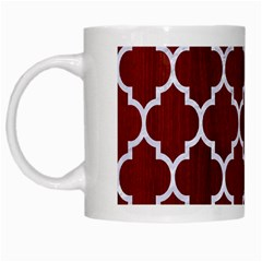 Tile1 White Marble & Red Wood White Mugs by trendistuff