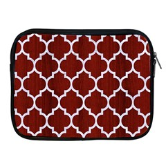Tile1 White Marble & Red Wood Apple Ipad 2/3/4 Zipper Cases by trendistuff