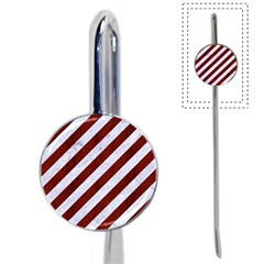 Stripes3 White Marble & Red Wood (r) Book Mark by trendistuff