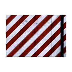 Stripes3 White Marble & Red Wood (r) Ipad Mini 2 Flip Cases by trendistuff