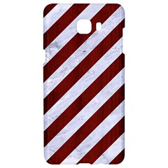 Stripes3 White Marble & Red Wood (r) Samsung C9 Pro Hardshell Case  by trendistuff