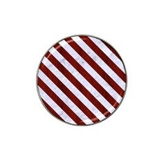 Stripes3 White Marble & Red Wood Hat Clip Ball Marker (4 Pack) by trendistuff