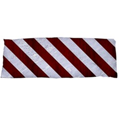 Stripes3 White Marble & Red Wood Body Pillow Case Dakimakura (two Sides) by trendistuff