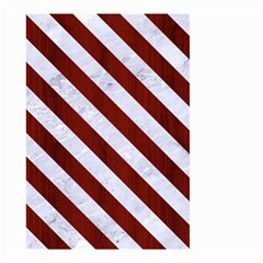 Stripes3 White Marble & Red Wood Small Garden Flag (two Sides) by trendistuff