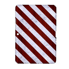 Stripes3 White Marble & Red Wood Samsung Galaxy Tab 2 (10 1 ) P5100 Hardshell Case  by trendistuff
