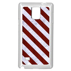 Stripes3 White Marble & Red Wood Samsung Galaxy Note 4 Case (white) by trendistuff