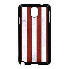 Stripes1 White Marble & Red Wood Samsung Galaxy Note 3 Neo Hardshell Case (black) by trendistuff