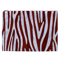 Skin4 White Marble & Red Wood (r) Cosmetic Bag (xxl)  by trendistuff