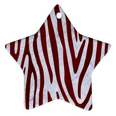Skin4 White Marble & Red Wood Ornament (star) by trendistuff