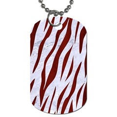 Skin3 White Marble & Red Wood (r) Dog Tag (two Sides) by trendistuff