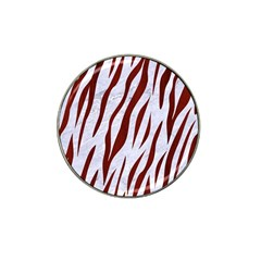 Skin3 White Marble & Red Wood (r) Hat Clip Ball Marker by trendistuff