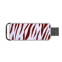 Skin3 White Marble & Red Wood (r) Portable Usb Flash (two Sides) by trendistuff