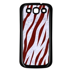 Skin3 White Marble & Red Wood (r) Samsung Galaxy S3 Back Case (black) by trendistuff