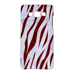 Skin3 White Marble & Red Wood (r) Samsung Galaxy A5 Hardshell Case  by trendistuff