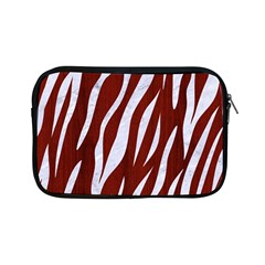 Skin3 White Marble & Red Wood Apple Ipad Mini Zipper Cases by trendistuff