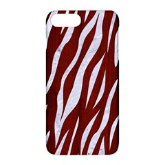 Skin3 White Marble & Red Wood Apple Iphone 8 Plus Hardshell Case by trendistuff