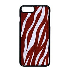 Skin3 White Marble & Red Wood Apple Iphone 8 Plus Seamless Case (black) by trendistuff