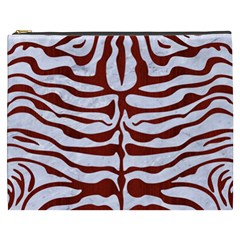 Skin2 White Marble & Red Wood (r) Cosmetic Bag (xxxl)  by trendistuff