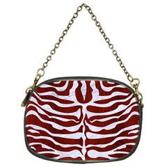 Skin2 White Marble & Red Wood Chain Purses (one Side)  by trendistuff