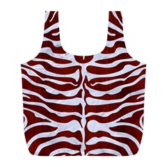 Skin2 White Marble & Red Wood Full Print Recycle Bags (l)  by trendistuff
