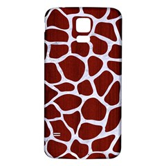 Skin1 White Marble & Red Wood (r) Samsung Galaxy S5 Back Case (white) by trendistuff
