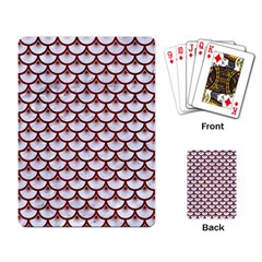 Scales3 White Marble & Red Wood (r) Playing Card by trendistuff