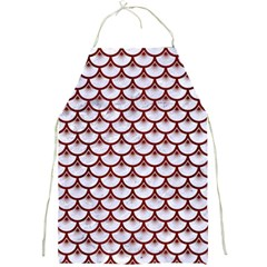 Scales3 White Marble & Red Wood (r) Full Print Aprons by trendistuff