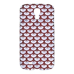 Scales3 White Marble & Red Wood (r) Samsung Galaxy S4 I9500/i9505 Hardshell Case by trendistuff