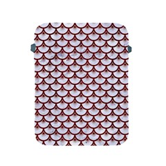 Scales3 White Marble & Red Wood (r) Apple Ipad 2/3/4 Protective Soft Cases by trendistuff