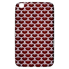 Scales3 White Marble & Red Wood Samsung Galaxy Tab 3 (8 ) T3100 Hardshell Case  by trendistuff