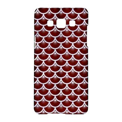 Scales3 White Marble & Red Wood Samsung Galaxy A5 Hardshell Case  by trendistuff
