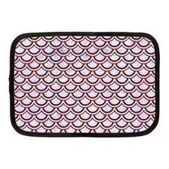 Scales2 White Marble & Red Wood (r)scales2 White Marble & Red Wood (r) Netbook Case (medium)  by trendistuff