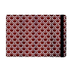 Scales2 White Marble & Red Wood Apple Ipad Mini Flip Case by trendistuff