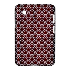 Scales2 White Marble & Red Wood Samsung Galaxy Tab 2 (7 ) P3100 Hardshell Case