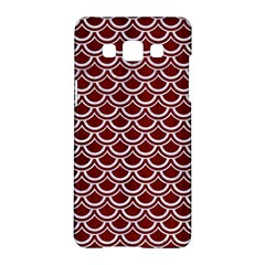 Scales2 White Marble & Red Wood Samsung Galaxy A5 Hardshell Case  by trendistuff