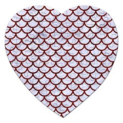 Scales1 White Marble & Red Wood (r) Jigsaw Puzzle (heart) by trendistuff