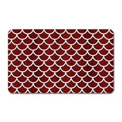 Scales1 White Marble & Red Wood Magnet (rectangular) by trendistuff