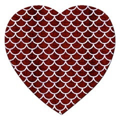 Scales1 White Marble & Red Wood Jigsaw Puzzle (heart) by trendistuff