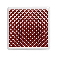 Scales1 White Marble & Red Wood Memory Card Reader (square)  by trendistuff