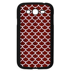 Scales1 White Marble & Red Wood Samsung Galaxy Grand Duos I9082 Case (black) by trendistuff