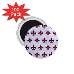 Royal1 White Marble & Red Wood 1 75  Magnets (100 Pack)  by trendistuff