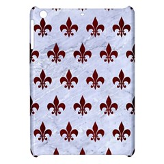 Royal1 White Marble & Red Wood Apple Ipad Mini Hardshell Case by trendistuff