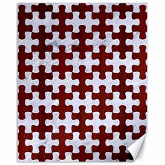 Puzzle1 White Marble & Red Wood Canvas 16  X 20   by trendistuff