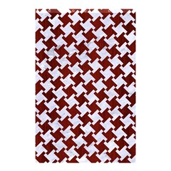 Houndstooth2 White Marble & Red Wood Shower Curtain 48  X 72  (small)  by trendistuff