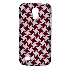 Houndstooth2 White Marble & Red Wood Galaxy S4 Mini by trendistuff