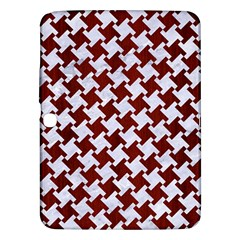 Houndstooth2 White Marble & Red Wood Samsung Galaxy Tab 3 (10 1 ) P5200 Hardshell Case  by trendistuff