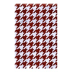 Houndstooth1 White Marble & Red Wood Shower Curtain 48  X 72  (small)  by trendistuff