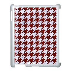 Houndstooth1 White Marble & Red Wood Apple Ipad 3/4 Case (white) by trendistuff