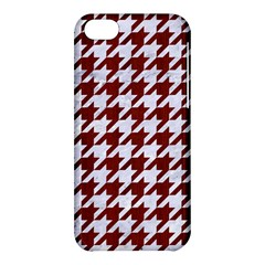 Houndstooth1 White Marble & Red Wood Apple Iphone 5c Hardshell Case by trendistuff