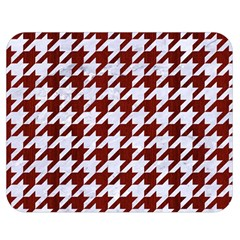 Houndstooth1 White Marble & Red Wood Double Sided Flano Blanket (medium)  by trendistuff
